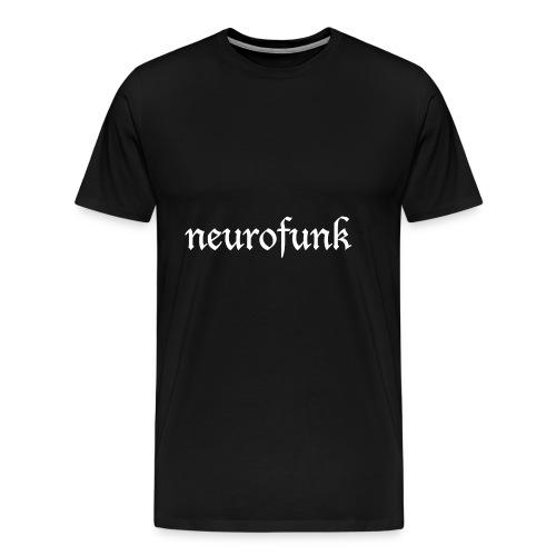 Neurofunk White - Koszulka męska Premium