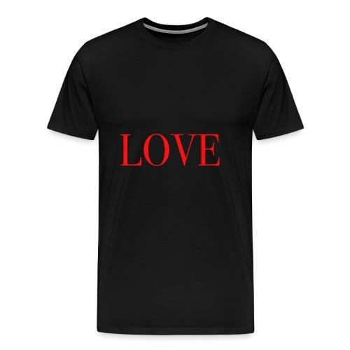 LOVE rot - Männer Premium T-Shirt