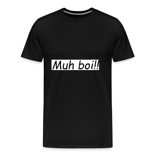 muh boi logo - Premium T-skjorte for menn