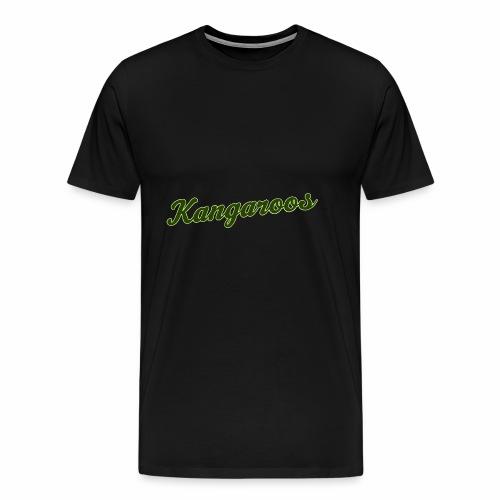 kangaroos font gruen - Männer Premium T-Shirt