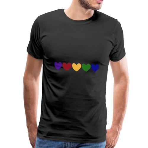 Herzen vertikal - Männer Premium T-Shirt