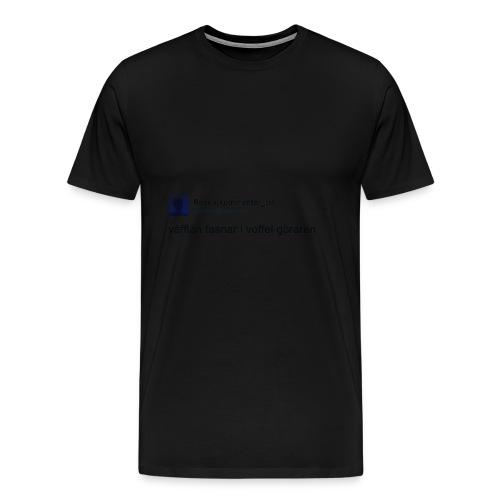Voffel goraren - Premium-T-shirt herr