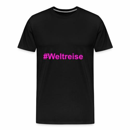 #Weltreise in pink - Männer Premium T-Shirt