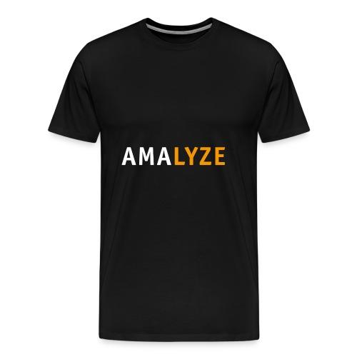 AMALYZE LOGO - Weiß / Orange - Männer Premium T-Shirt