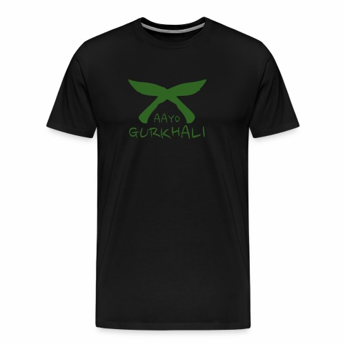 Aayo Gurkhali - Khukuri cross - Men's Premium T-Shirt