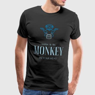 Monkey Head apina Tiermotiv lahjaidea - Miesten premium t-paita