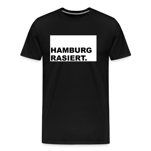 Hamburg rasiert - Männer Premium T-Shirt