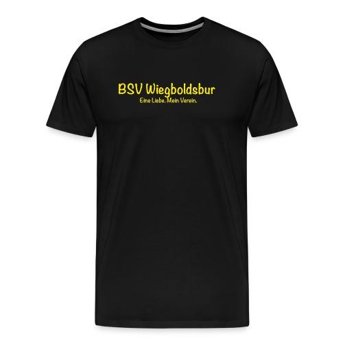 BSV Wiegoldsbur Eine Liebe Mein Verein Gelb - Männer Premium T-Shirt