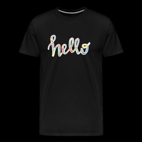 Colourful HELLO in white - Men's Premium T-Shirt