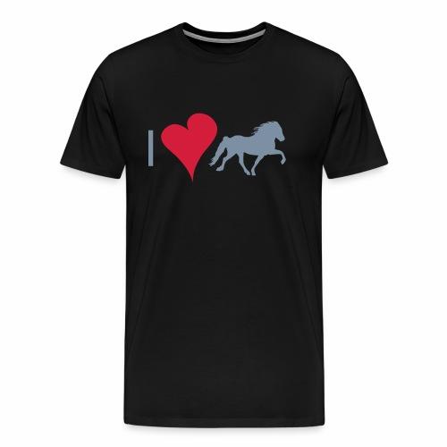 I love Isländer - Männer Premium T-Shirt