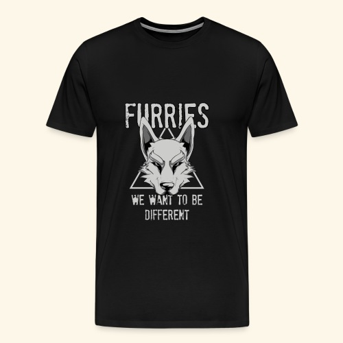 Furries We Want To Be Different Furry Cosplay - Männer Premium T-Shirt