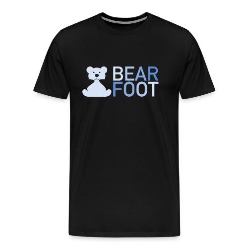 BEAR FOOT fade blue - Männer Premium T-Shirt