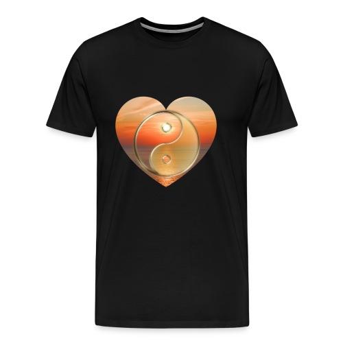 YinYang Sunset - Männer Premium T-Shirt