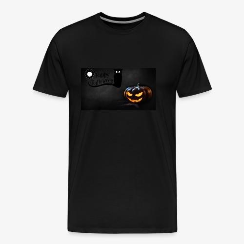 Happy Halloween Kürbis Eule Erwachsen - Männer Premium T-Shirt