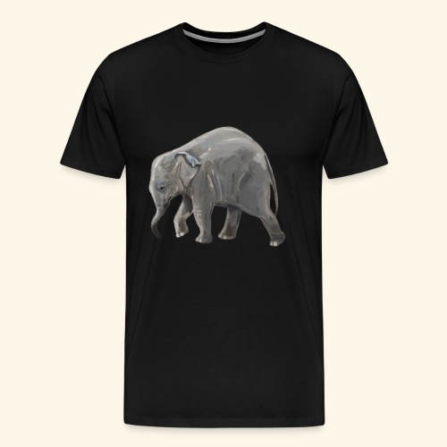 Baby elephant on a Mission - Men's Premium T-Shirt