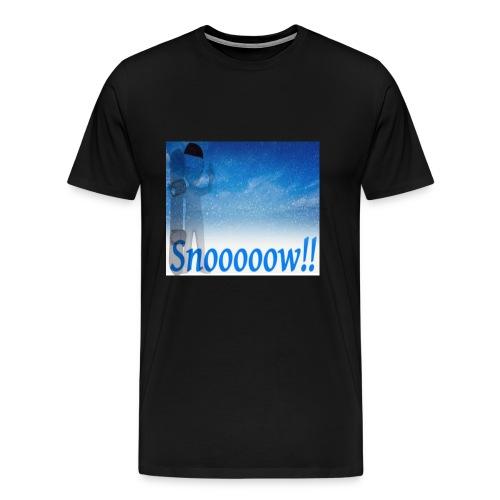 Snoooooow - Premium T-skjorte for menn