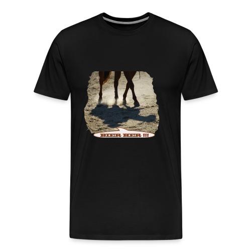 Pferd Schatten Bier her - Männer Premium T-Shirt
