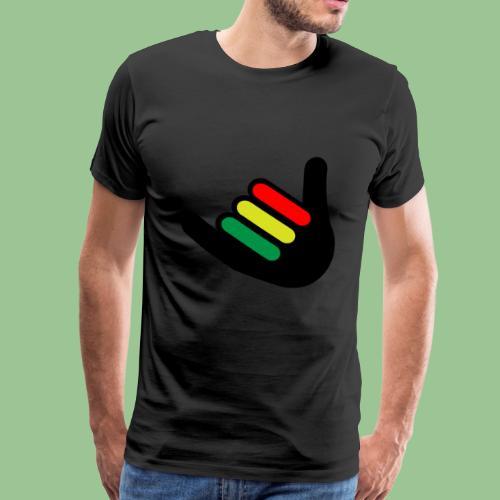 Rasta Hand Irie Fun Shirt Jamaica - Männer Premium T-Shirt