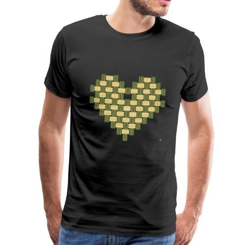 70tees Herz Muster - Männer Premium T-Shirt