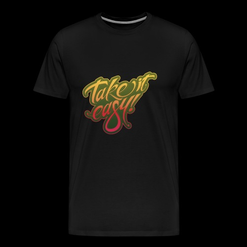 Take it easy yellow-red - Männer Premium T-Shirt