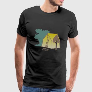 obóz camper scout namiot tipi kochen47 - Koszulka męska Premium