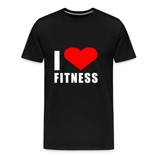 I LOVE FITNESS - Männer Premium T-Shirt