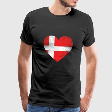 Geschenk Dänemark Flagge dänische Fahne dänisch - Männer Premium T-Shirt