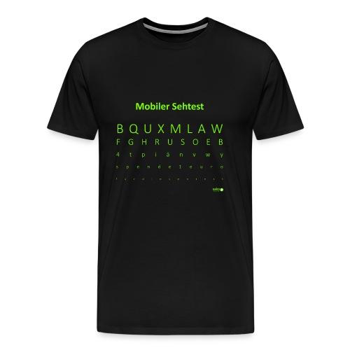 Mobiler Sehtest 2 - Männer Premium T-Shirt