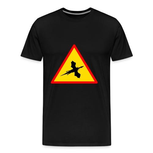 Drachenwarnschild - Männer Premium T-Shirt