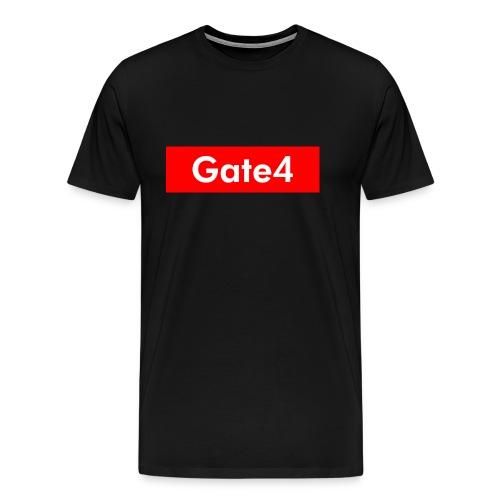 Gate 4 Logo Röda - Premium-T-shirt herr