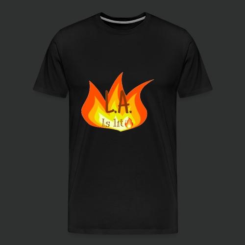 La is lit - Men's Premium T-Shirt