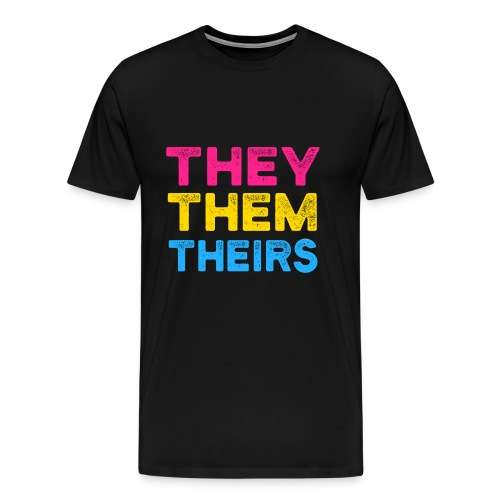 They Them Theirs Pansexuell CSD LGBT Geschenk - Männer Premium T-Shirt