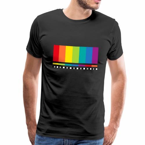 Testbild Fernsehen Bildschirm Sendeschluss Display - Männer Premium T-Shirt