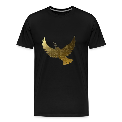 Goldene Friedenstauben - Männer Premium T-Shirt