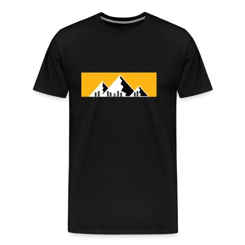 Berge Alpen Mountain Wandern Bergshirt - Männer Premium T-Shirt
