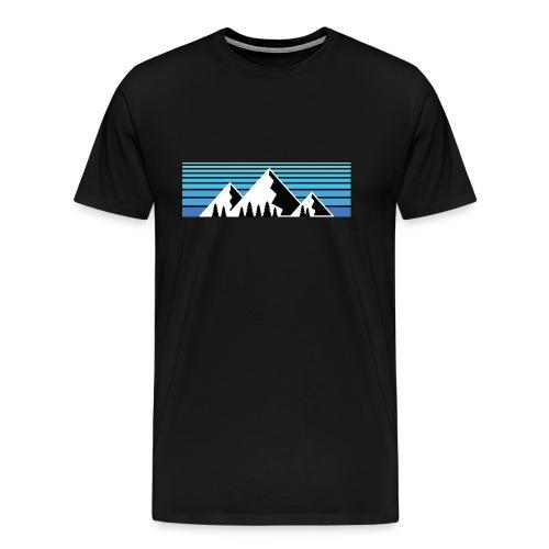 Berge im Sonnenaufgang Bergshirt - Männer Premium T-Shirt