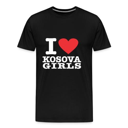 I love Kosova Girls - Männer Premium T-Shirt