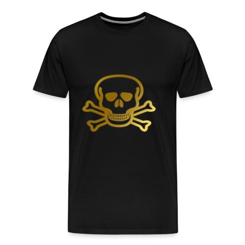 Goldener Totenkopf - Männer Premium T-Shirt