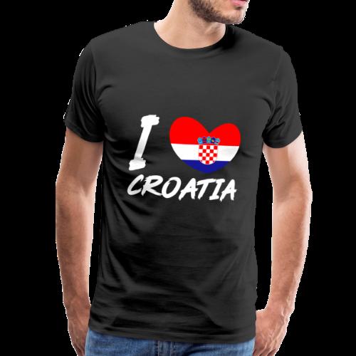 Kroation flagge, Kroation, Kroation fahne - Männer Premium T-Shirt