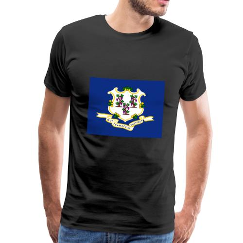 Connecticut flag - Men's Premium T-Shirt