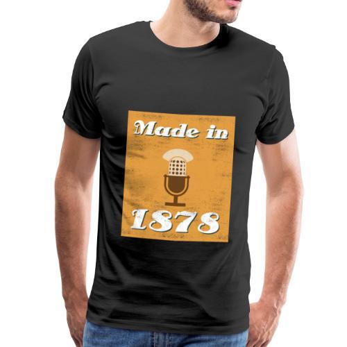 Made in 1878 - Retro Mikrofon - Männer Premium T-Shirt