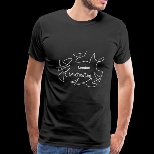 Skyline London - Männer Premium T-Shirt
