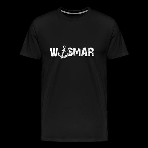 Wismar mit Anker - Männer Premium T-Shirt