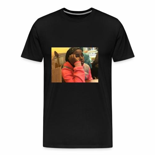 my enjoying little sis - Mannen Premium T-shirt