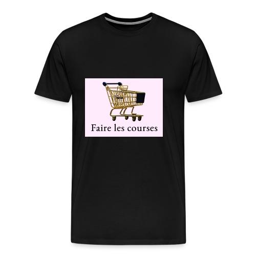 Edler goldener Einkaufswagen mit Schriftzug - Männer Premium T-Shirt