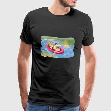 Spływ kajakowy łódź nadmuchiwane kajak - Koszulka męska Premium
