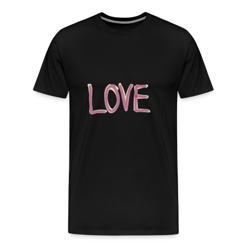 LOVE (watercolor, aquarell) - Männer Premium T-Shirt