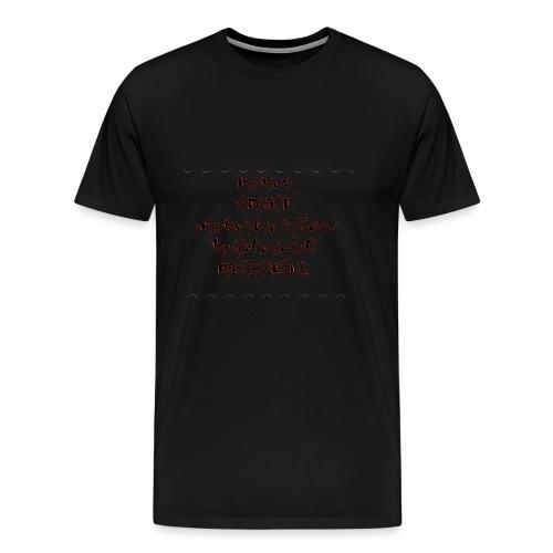 keine Angst mein Herrchen beißt nicht - Männer Premium T-Shirt