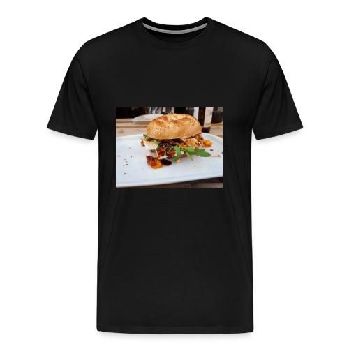 Bagel Chicken Burger - Männer Premium T-Shirt