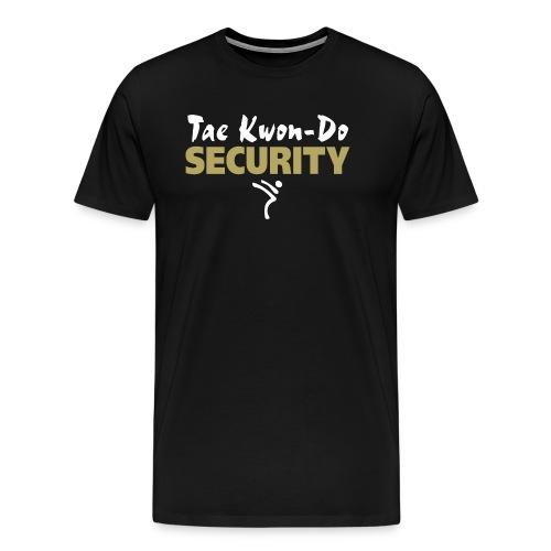 Taekwondo Security white & gold print - Men's Premium T-Shirt